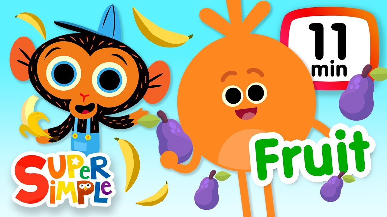 the super simple show fruits vegetables kids songs cartoons