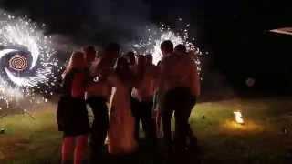 Гости и молодожены зажигают!Пиротехническое шоу на свадьбе в Туле.