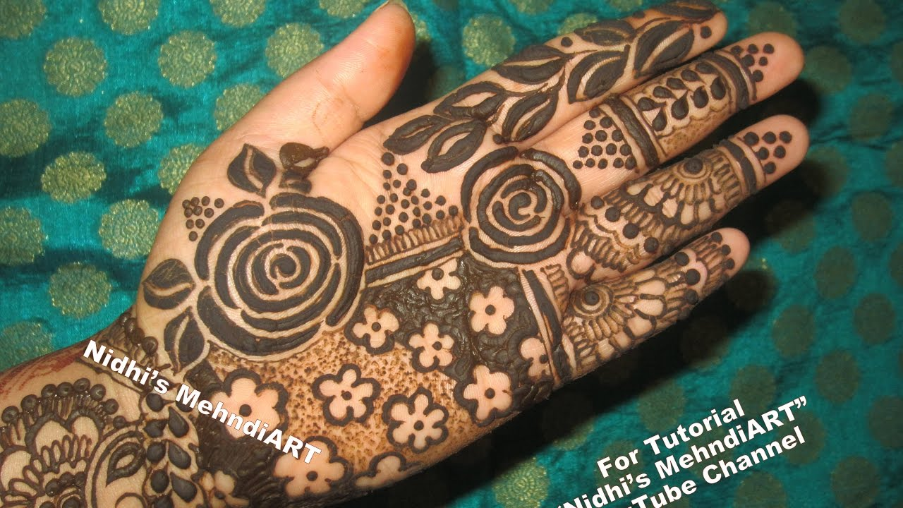 Mehndi Henna Designs S : Latest fancy floral mehndi henna design for hands step by