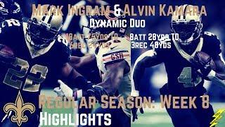 Alvin Kamara & Mark Ingram Week 8 Regular Season Highlights Dynamic Duo | 10/29/2017
