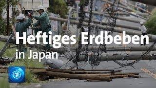 """Nach dem taifun """"jebi"""" hat erneut eine naturgewalt japan getroffen: ein erdbeben der stärke 6,6 erschütterte die nordinsel hokkaido. mindestens sieben mensch..."""