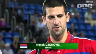 Video Post-match interview with Serbian mixed doubles Ana Ivanovic and Novak Djokovic download MP3, 3GP, MP4, WEBM, AVI, FLV Agustus 2018