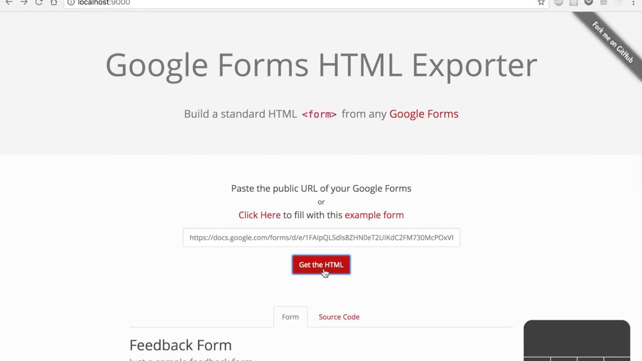 Export Google Forms to HTML - YouTube
