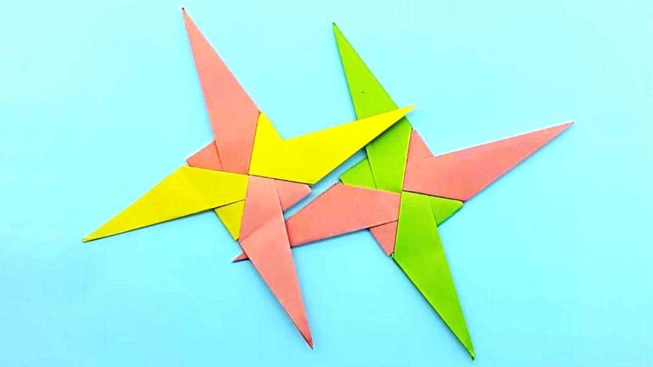 Origami ninja Star оригами звезда - YouTube   720x1280