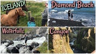 Tour of Southern Iceland!   Jökulsárlón, Diamond Beach, Fjaorargljufur, Seljalandsfoss   Day 3 Vlog