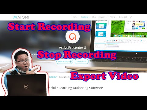 How to Start, Stop Recording and Export Video | ActivePresenter 8 Tutorial