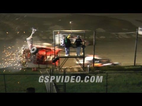 Crash into the Catchfence - 9/15/2013 - Big Diamond Speedway