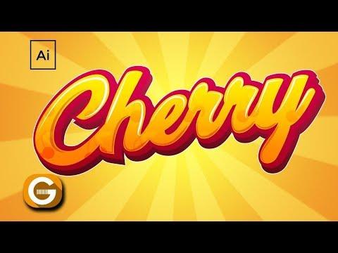 Illustrator Tutorial | Tipografía Personalizada Cherry | Cherry Custom Typography