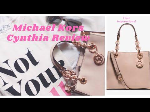 9f51d2647cf6 Michael Kors Cynthia Small Rose Gold Satchel  Unboxing