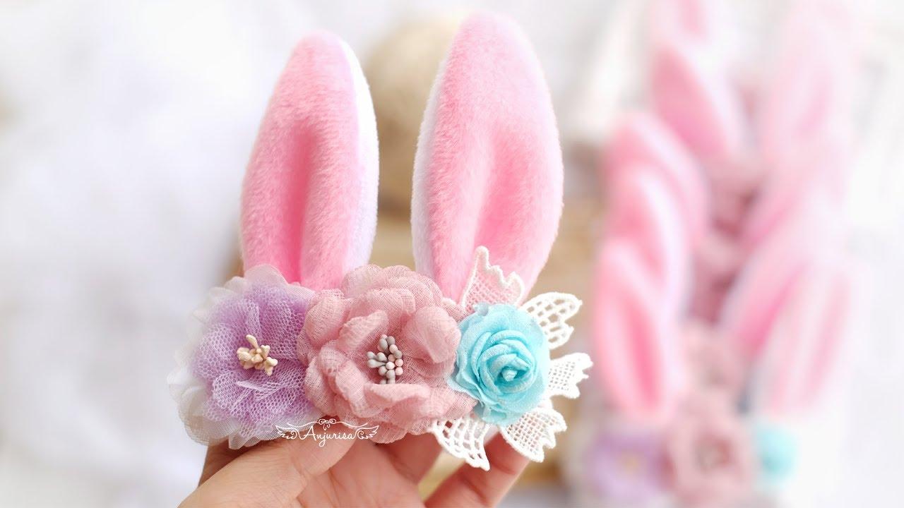 Easter Headband Girl Headband | Bunny Ears Felt Headband Bunny Ears Baby Girl Headband Emily\u2019s Collection Headband