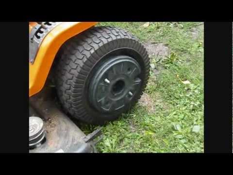 Putting on wheel weights on cub cadet 128 (1286A)   Doovi