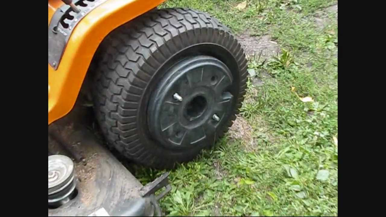 My 20 Garden Tractor Wheel Weights On The Tractor Youtube