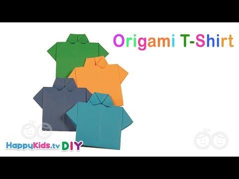 Origami T Shirt | PlayDough Crafts | Kid's Crafts And Activities | Happykids DIY