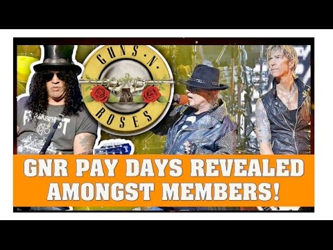 Guns N' Roses News  Axl, Slash and Duff Mckagan Pay Days Revealed For Reunion Tour