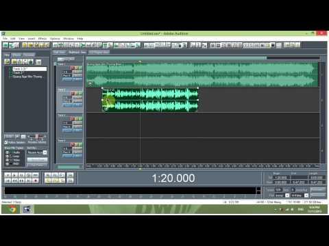 Hướng dẫn thu âm Adobe Audition 1.5