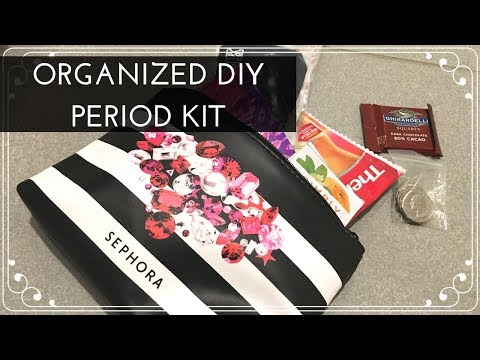 Organizing For Your Period: DIY To-Go Period Kit