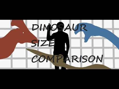 Dinosaur and other creatures SIZE COMPARISON