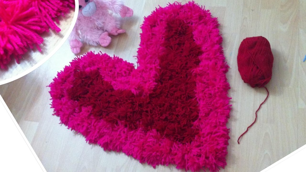 Heart Shaped Shag Rug DIY/Valentines Day Pink And Red Rug   YouTube
