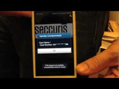 Stealing basic credit card information with an NFC enabled phone