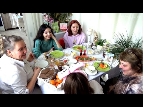 Девичник-6. Как Алёнка подарок из Нижневартовска получала.  Мама Алёнки о внучке и о рецепте сыра.