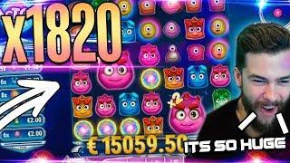 Huge win  Reactoonz slot on stream -  Top 5 Best wins of the week casino