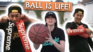 Challenged My Wife To Basketball?! | Supreme Sleeves Ft. Brandon Choi, Can Poreotics, & Bree