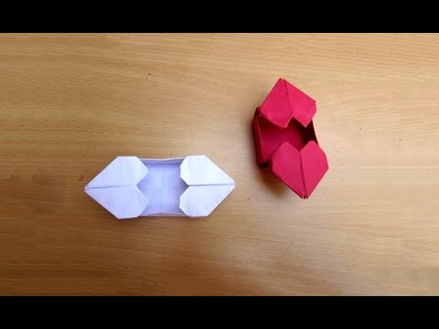 How to make Paper Heart Box| Heart Box Origami | DIY | PaperMade