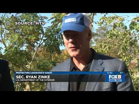 Cassidy hosts Interior Secretary Ryan Zinke in Louisiana for wetlands, energy discussions - FOX8
