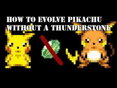 How To Evolve Pikachu Without A Thunderstone Youtube