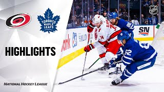 NHL Highlights | Hurricanes @ Maple Leafs 2/22/20