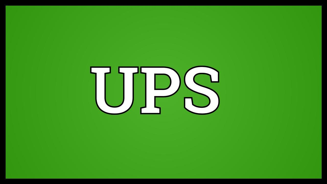 What does ups mean in texting