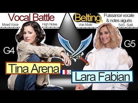 Belting Battle Lara Fabian vs Tina Arena : G4 - G5 (high notes, mixed voice,