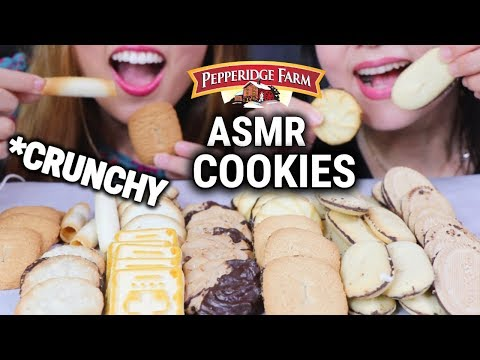 ASMR EATING COOKIES (Pepperidge Farm Cookie Collection) SOFT EATING SOUNDS