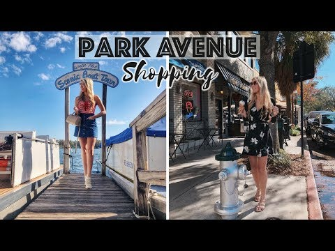 COME SHOPPING WITH ME IN FLORIDA - PARK AVENUE, WINTER PARK ORLANDO VLOG | Scarlett London