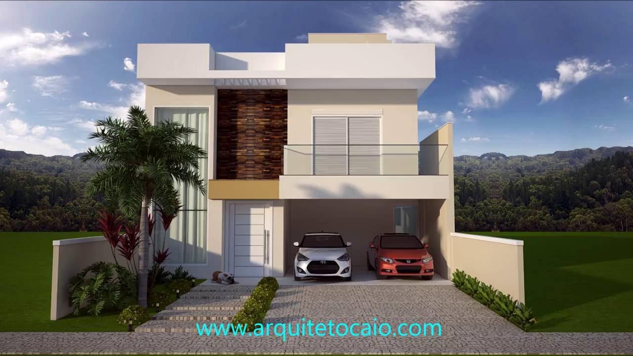 Projeto casa sobrado 3 suites for Fachada apartamentos pequenos