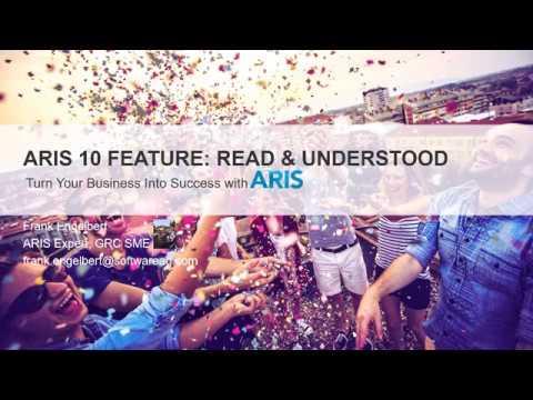ARIS 10 – New Feature Read & Understood