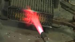 Демонтаж площадки для трубок радиатора