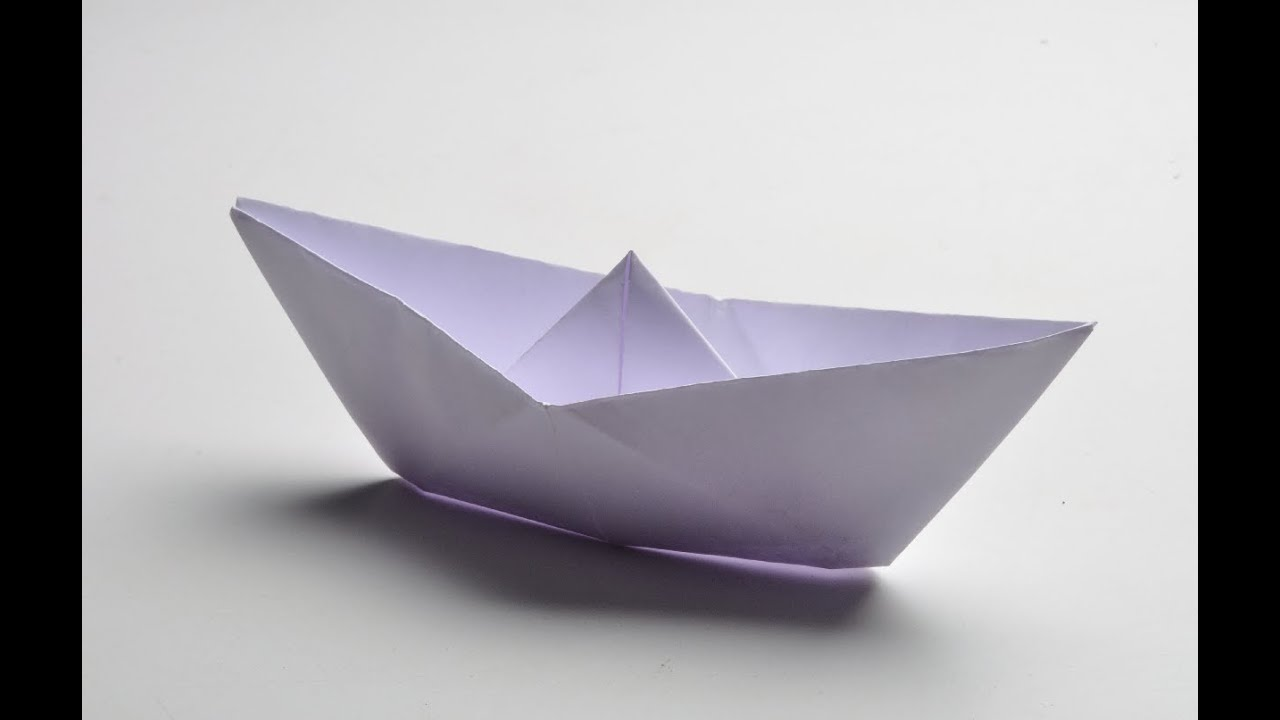 how to fold a paper boat full hd youtube. Black Bedroom Furniture Sets. Home Design Ideas