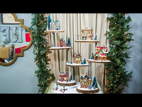 Christmas Village Display.Diy Christmas Village Stand Home Family