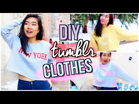 DIY Tumblr Clothes WITHOUT Transfer Paper | JENerationDIY