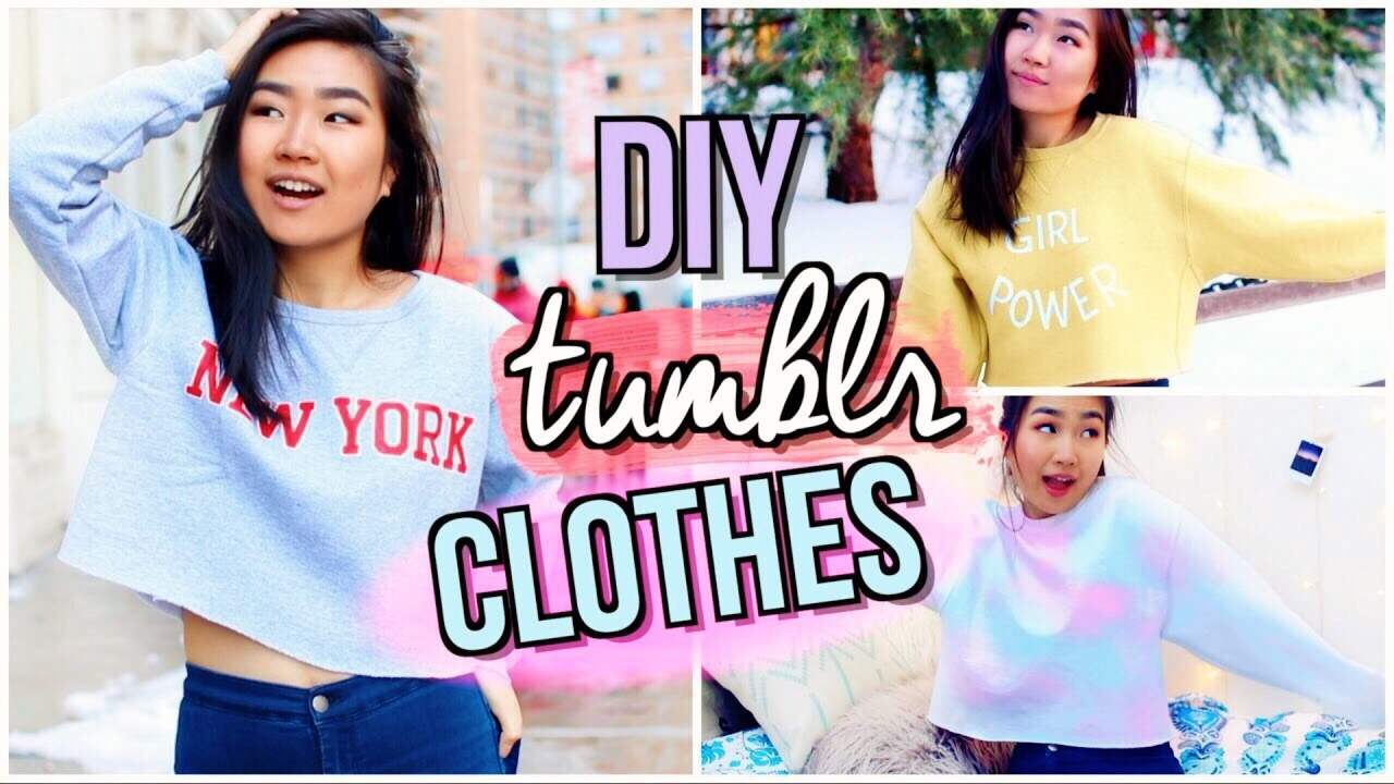 DIY Tumblr Clothes WITHOUT Transfer Paper  JENerationDIY