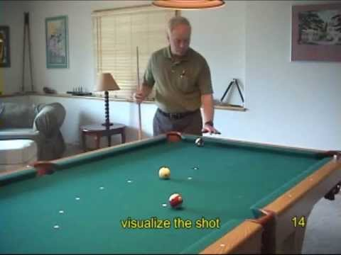 Pool and billiards pre-shot routine recommendations and advice, from VEPP I (NV C.2)