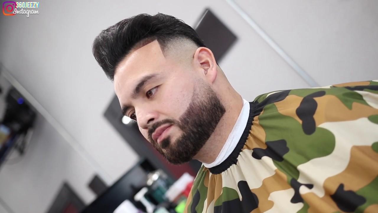 haircut tutorial pompadour drop