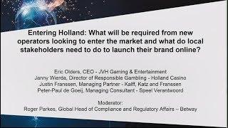 Entering Holland as a gambling operator