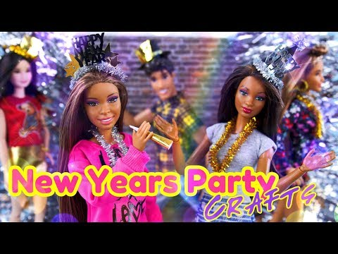 DIY - How to Make: New Years Party Doll Crafts   Dance Floor   Hats   Hacks & More