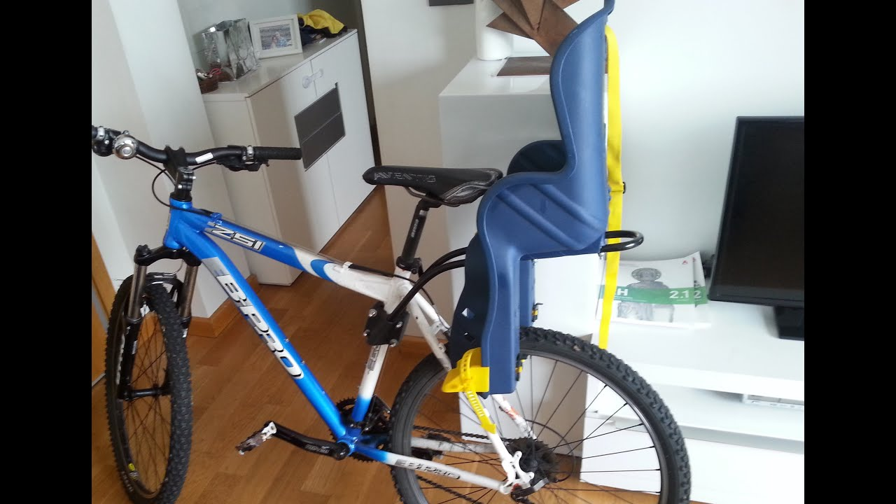 Montaje Soporte Silla bebe bicicleta Baby Chair Bike