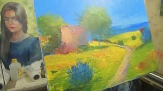 Игорь Сахаров, пейзаж мастихином, научиться рисовать маслом