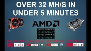 RX580 Making Over 32MH/s (ETH)!! Simple Mod under 5 minutes! | Works for RX470/480/570/580 |