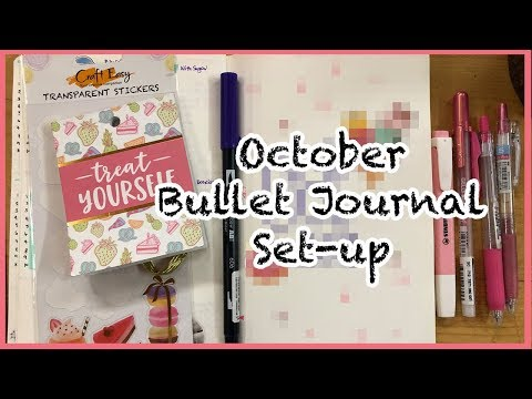 October 2019 Bullet Journal Set-up