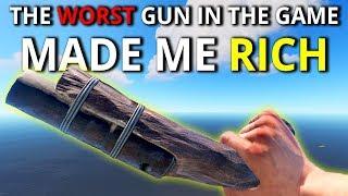 EOKA PISTOL Got Me THOUSANDS Of Scrap IN 5 MINUTES! - Rust Solo Survival 1/2